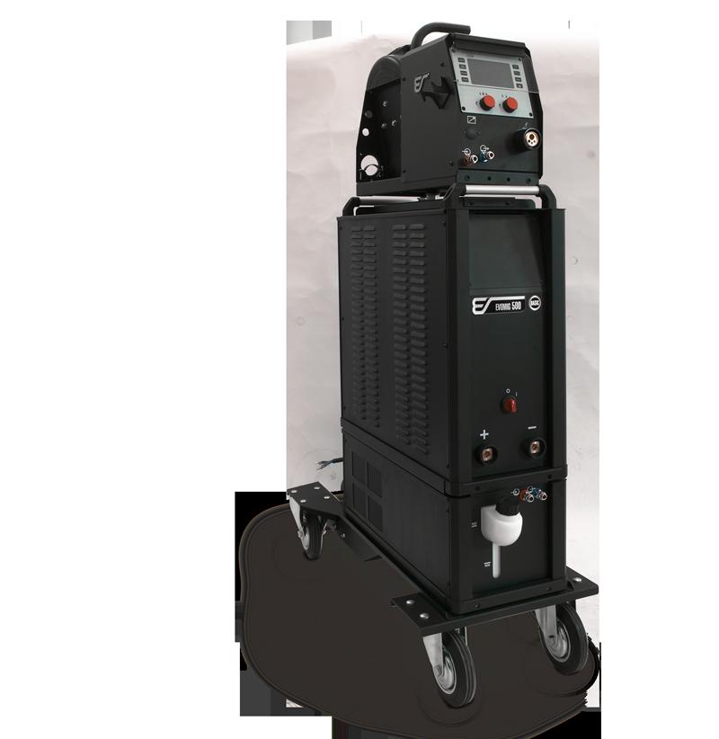 Аппарат EVOMIG с блоком жидкостного охлаждения, тележкой и устройством подачи проволоки